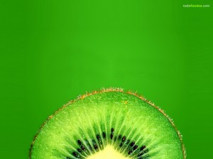 Postal: Un kiwi verde