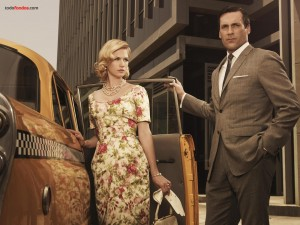 Don Draper (Jon Hamm) y Betty Draper (January Jones)