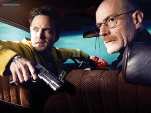 Postal: Walter White (Bryan Cranston) y Jesse Pinkman (Aaron Paul)
