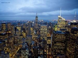 Vista de Manhattan, Nueva York, desde una terraza del Rockefeller Center