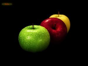 Postal: Manzanas de distintos colores