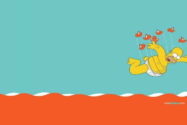 Homer Simpson, la nueva ballena de Twitter