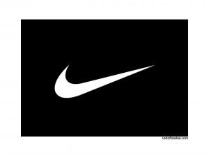 Postal: Nike, blanco y negro
