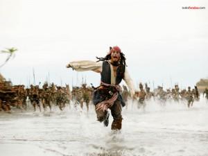 El Capitán Jack Sparrow en Piratas del caribe