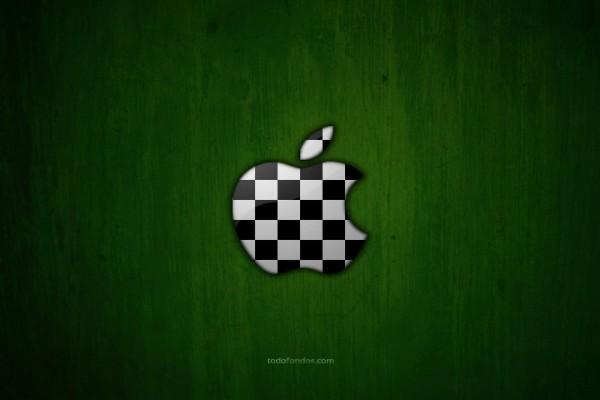 Logo de Apple como tablero de ajedrez
