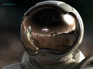 Postal: Casco de astronauta