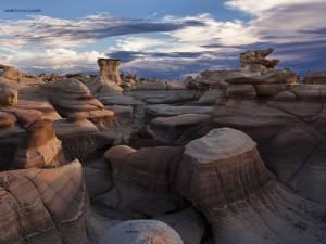 Postal: Desierto de Bisti/De-Na-Zin, Nuevo México