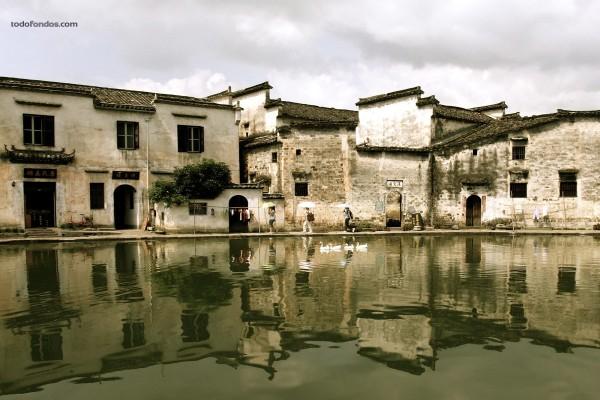 Foto tomada en la localidad china de Xidi