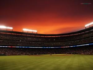 Postal: Estadio de béisbol de los Texas Rangers, en Arlington
