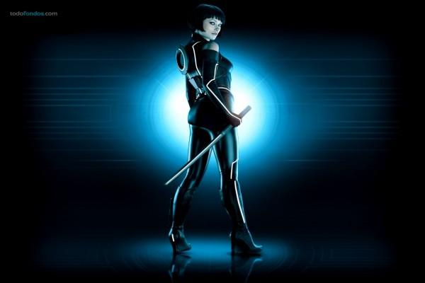 Quorra (Olivia Wilde) en Tron Legacy
