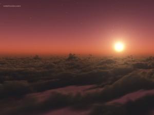 Postal: Por encima de las nubes