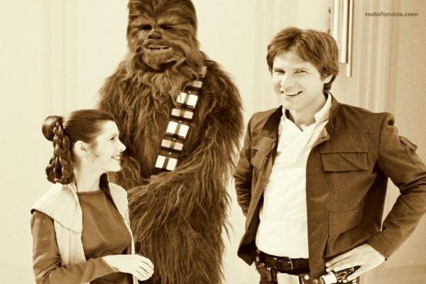 Los protagonistas de las primeras películas de Star Wars