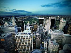 Postal: Manhattan desde el aire