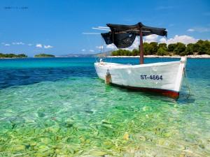 Postal: Playa cerca de Trogir (Croacia)