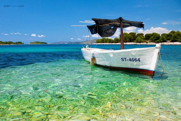 Playa cerca de Trogir (Croacia)