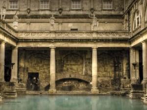 Postal: Termas romanas de Bath (Inglaterra)