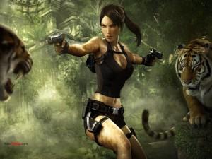 Dibujo de Lara Croft en Tomb Raider