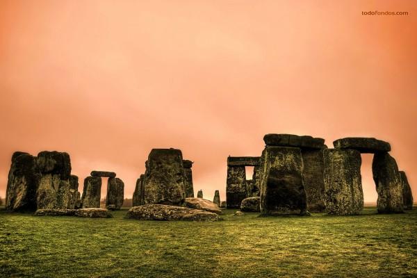 Stonehenge, monumento megalítico de la Edad del Bronce, situado en Inglaterra