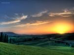 Puesta de sol en la Toscana (Italia)