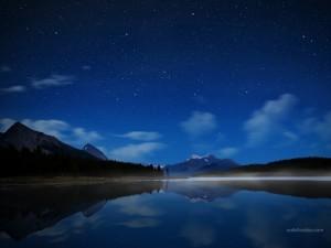 Postal: Lago Maligne, en el Parque Nacional de Jasper, Alberta, Canadá