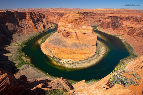 """""""Curva de la Herradura"""", en el Río Colorado (Arizona)"""