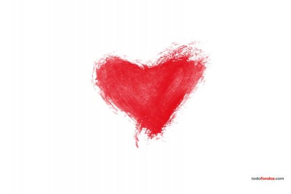 Un corazón dibujado a mano