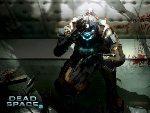 Postal: Isaac Clarke, en Dead Space 2... rezando