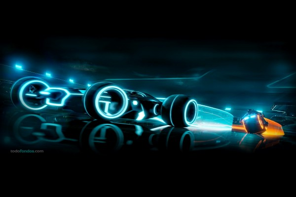 "Carreras de motos en ""Tron Legacy"""