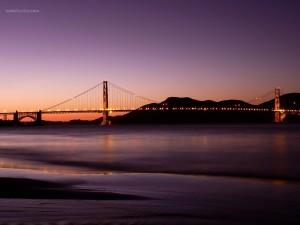 Puente Golden Gate (San Francisco) visto desde el parque Crissy Field