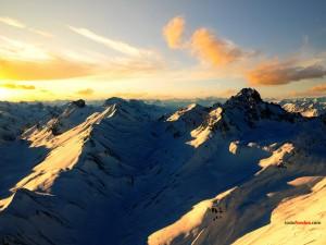 Los Alpes suizos desde el aire