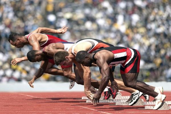 Atletas iniciando la carrera