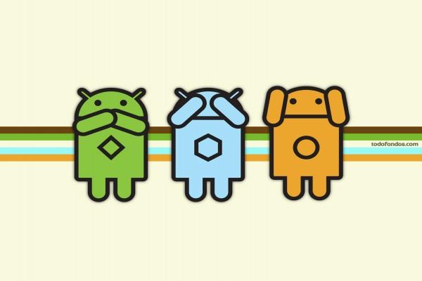 Diferentes logos de Android