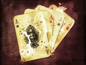 Postal: Poker de ases