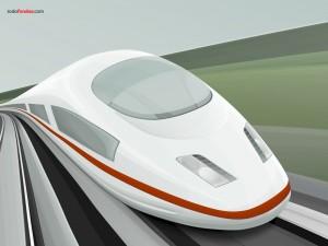 Postal: Tren futurista