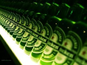 Botellas de Heineken
