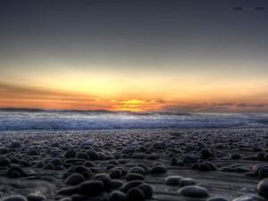 Piedras en la playa (Carlsbad, California)