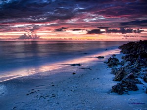 Postal: Atardecer en la playa de Siesta Key, en Sarasota, Florida