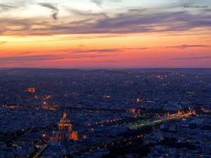 Postal: París de noche