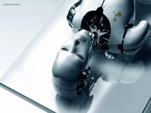 Postal: Mujer robot