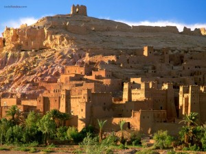 Postal: Ruinas de una alcazaba