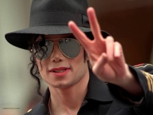 Michael Jackson saludando