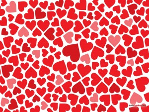 Postal: Un mar de corazones