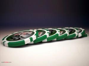 Fichas de poker verdes