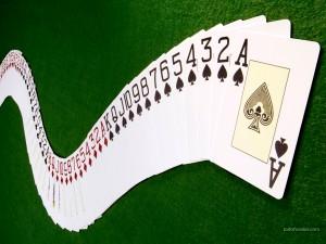 Postal: Baraja de poker extendida