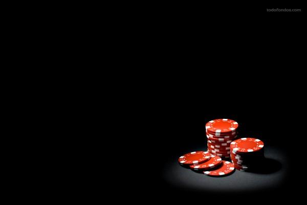 Fichas rojas de poker