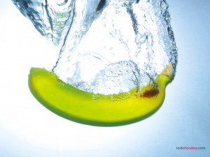 Plátano al agua