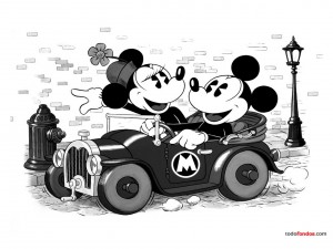 Postal: Mickey y Minnie