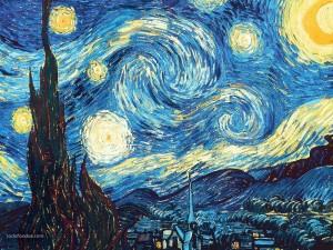 Postal: La noche estrellada (Vincent van Gogh)
