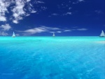 Surcando aguas azules