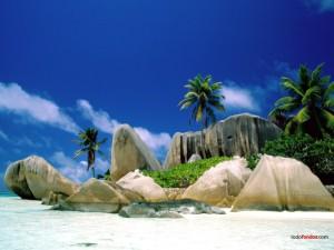 Postal: Isla La Digue, en las Seychelles